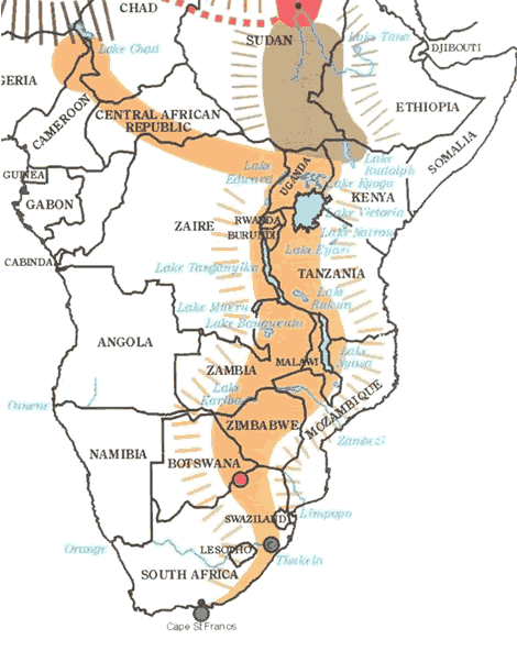 rift valley south africa map